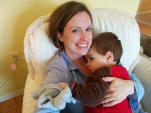 Ashleigh loving on my son.